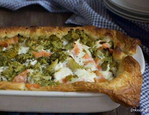 Quiche broccoli e salmone