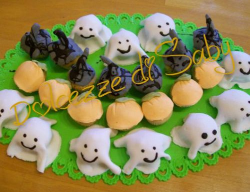 Cupcakes halloween (fantasmini zucche e cappelli di strega )