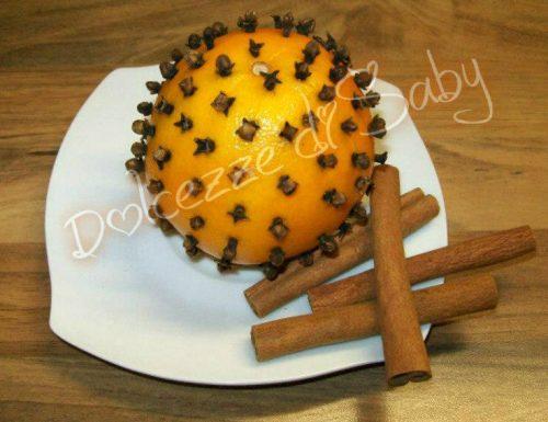 Arance aromatizzate ( idea decoro)