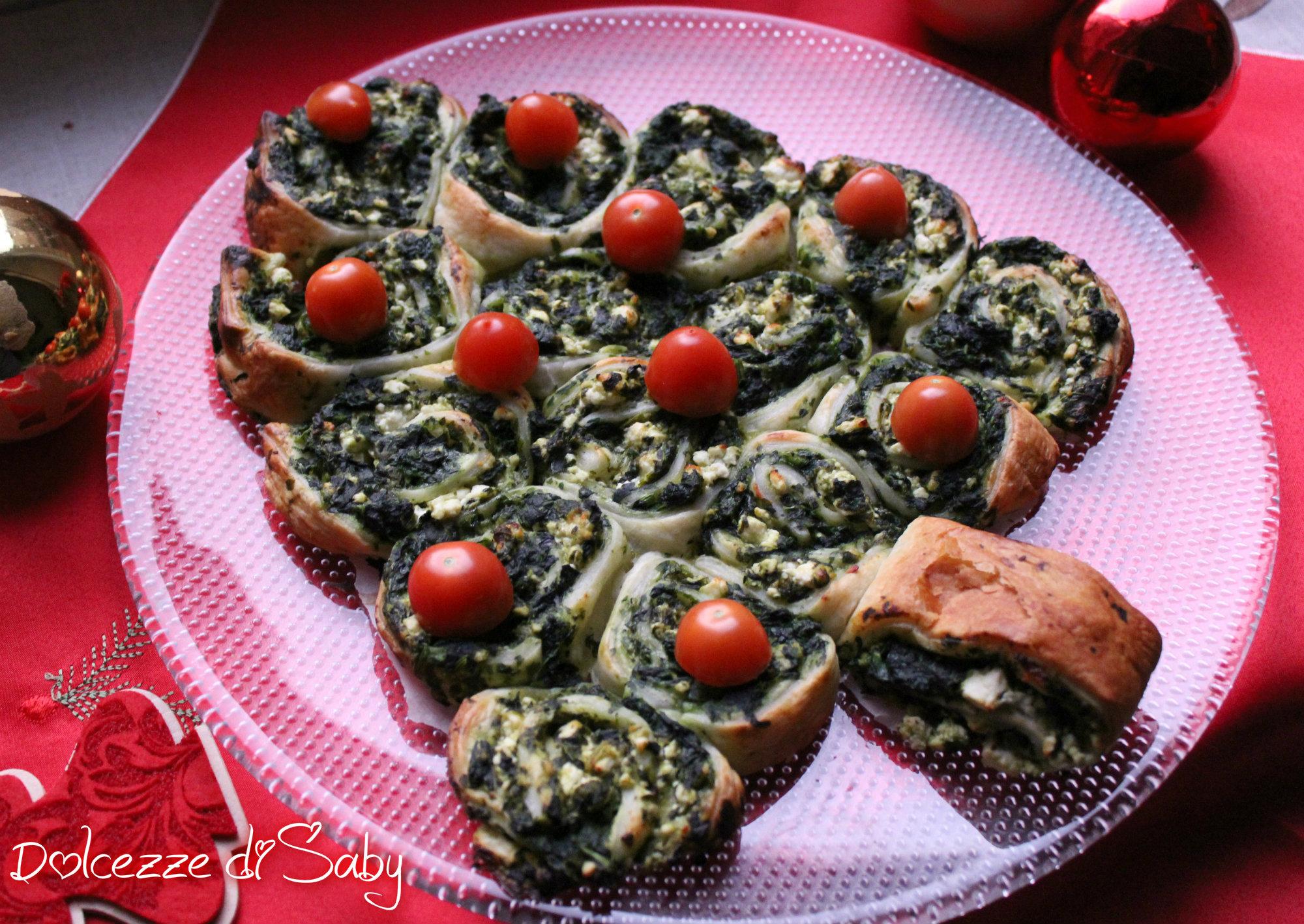 Antipasti Di Natale Vegetariano.Albero Di Girelle Antipasto Vegetariano