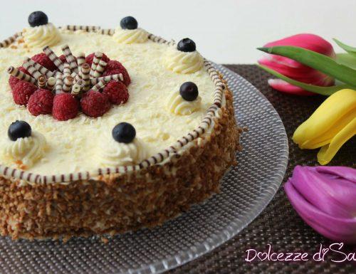 Torta biscottata con cioccolato bianco