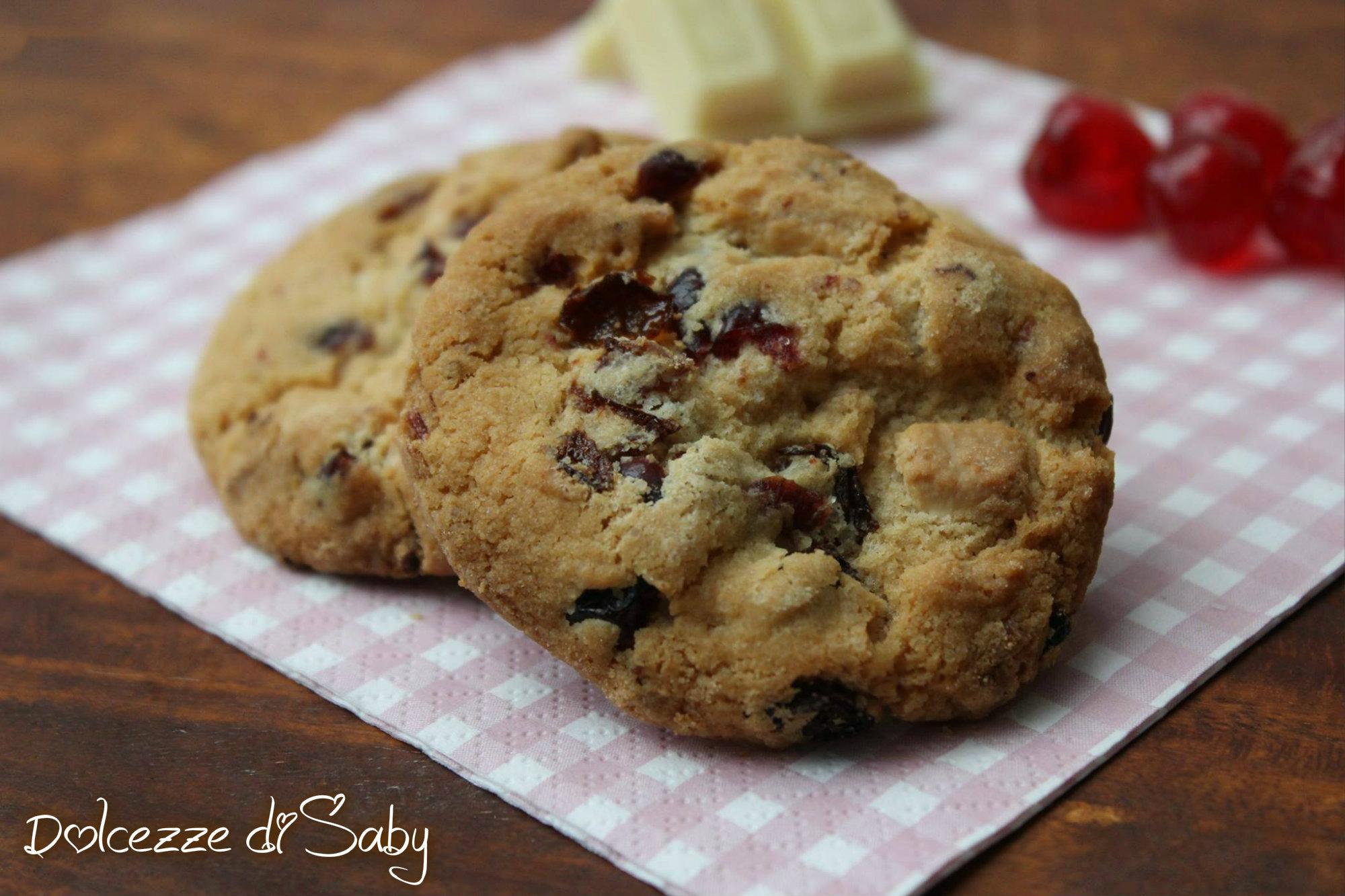 Ricetta Cookies Cioccolato Bianco E Mirtilli.Cookies Ai Mirtilli Rossi Cranberry White Chocolate