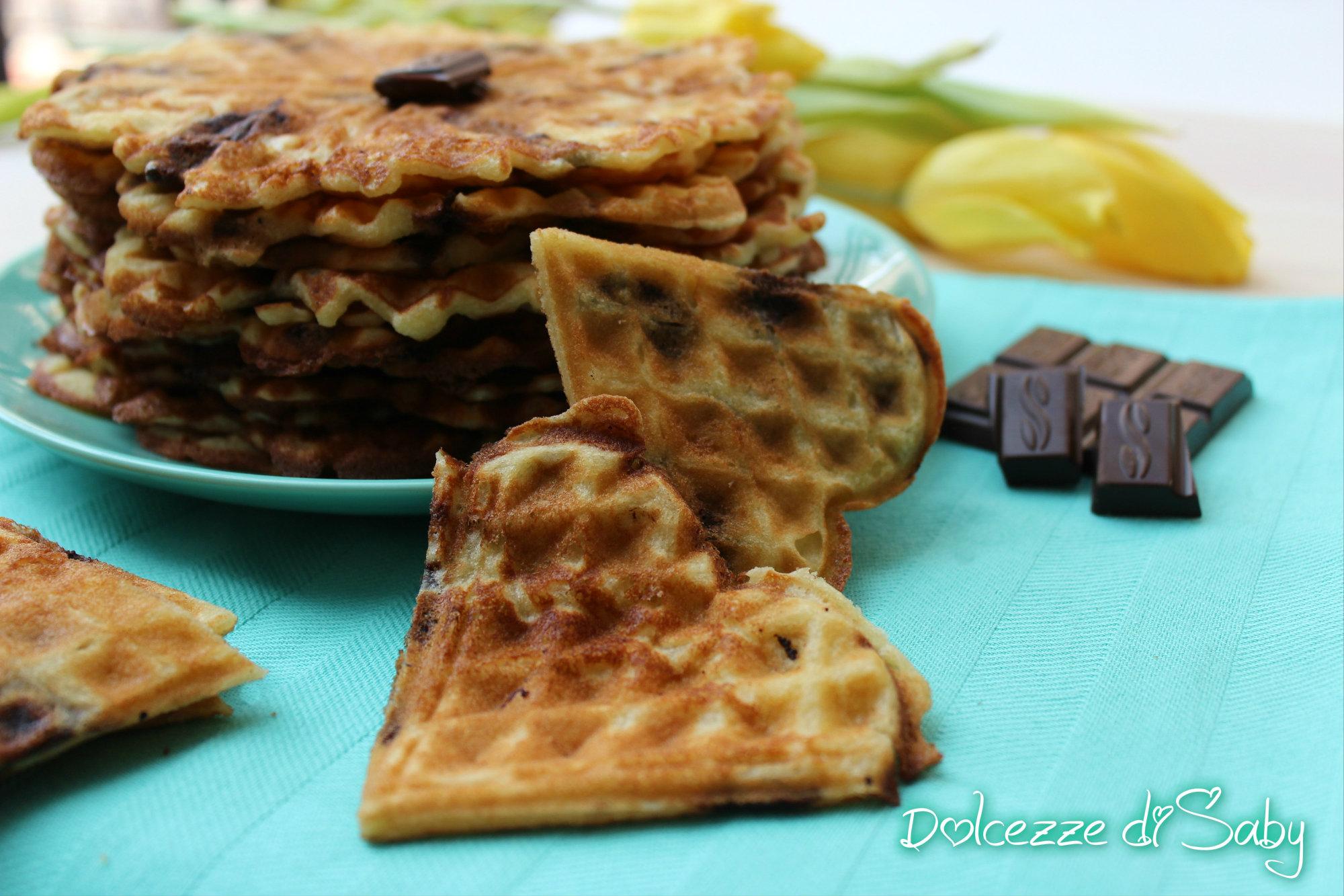 waffel cioccolato e marzapane
