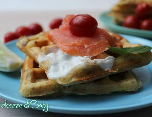 Waffle salati con rösti