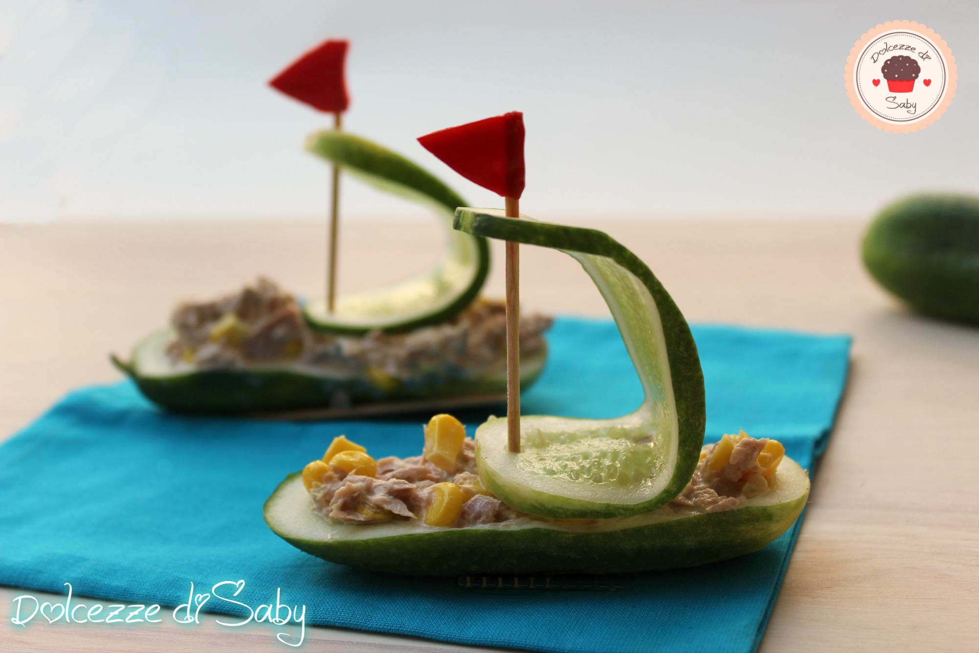 barchette di cetrioli