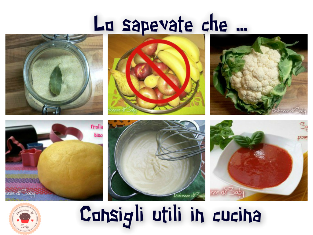 Consigli in cucina Archives - Dolcezze di Saby
