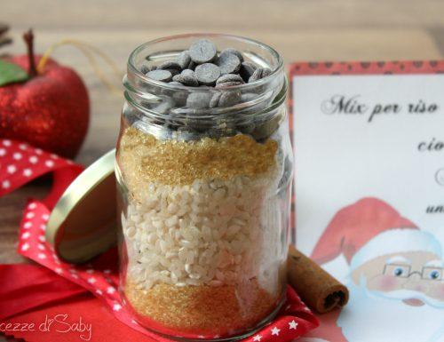 Mix per riso al latte con cannella e cioccolato (idea regalo)