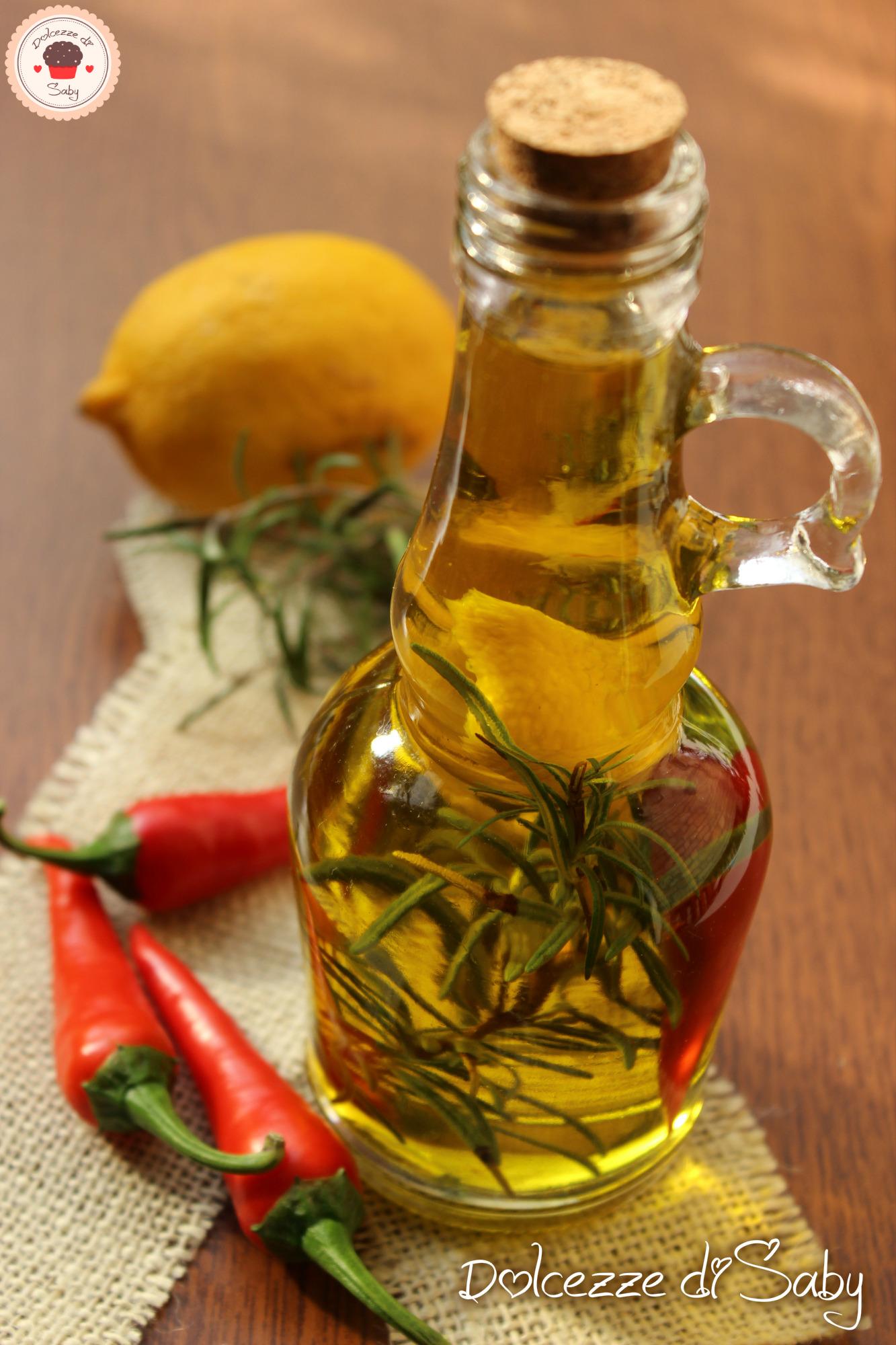 olio piccante limome e rosmarino