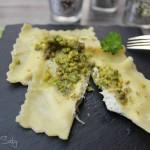 Ravioli ricotta e pistacchi