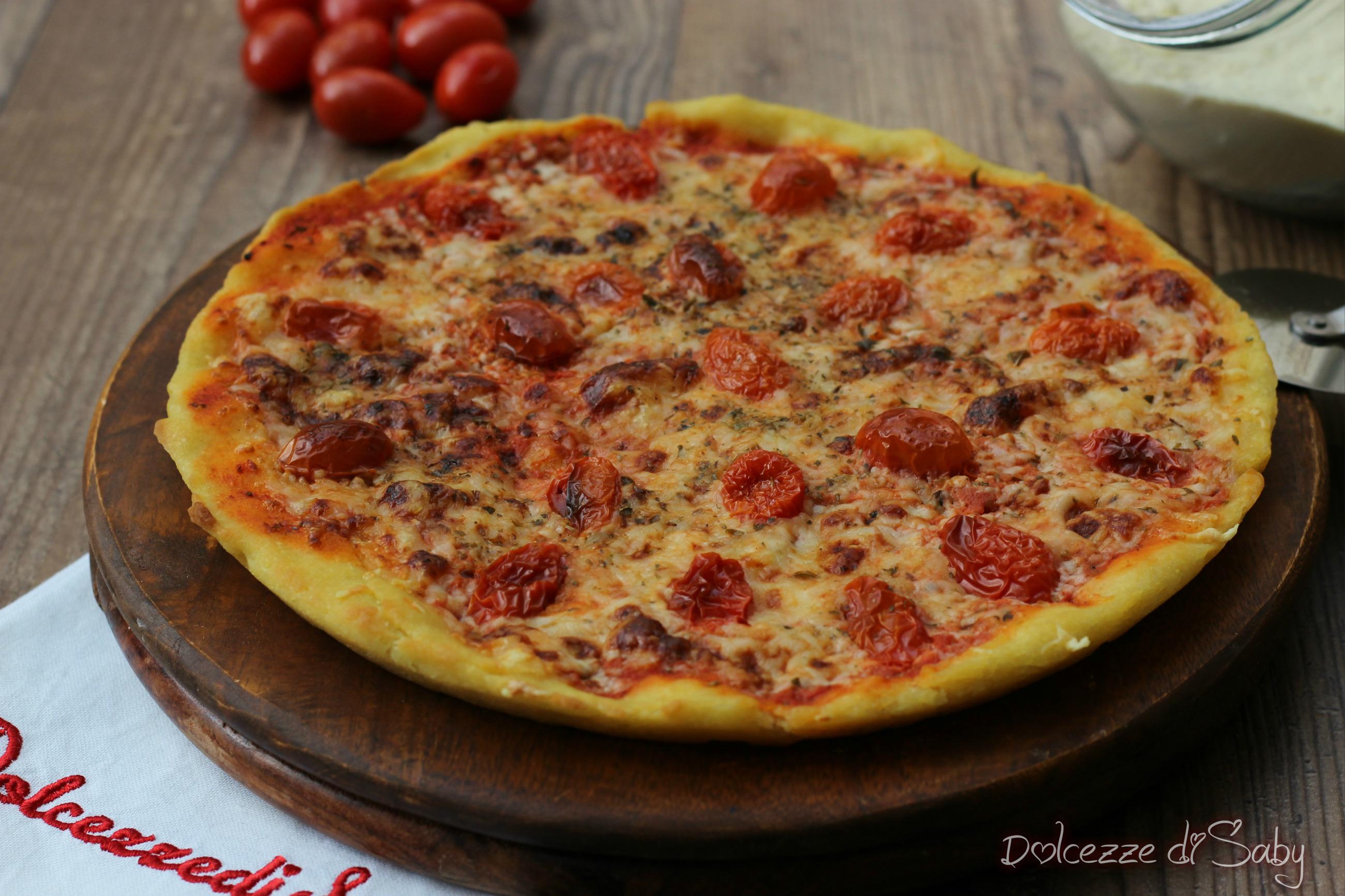 Pizza con farina di semola rimacinata di grano duro