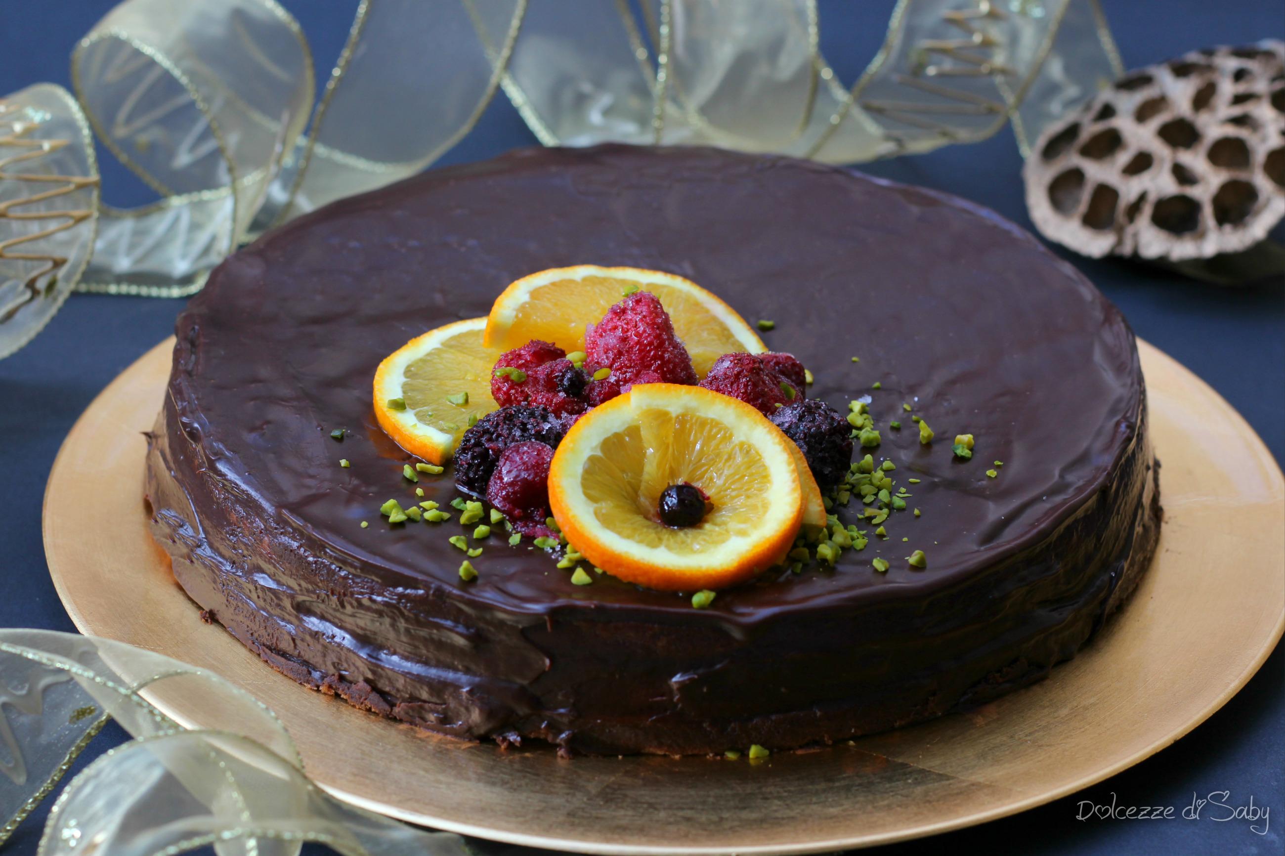 Torta al cioccolato fondente (senza lattosio)