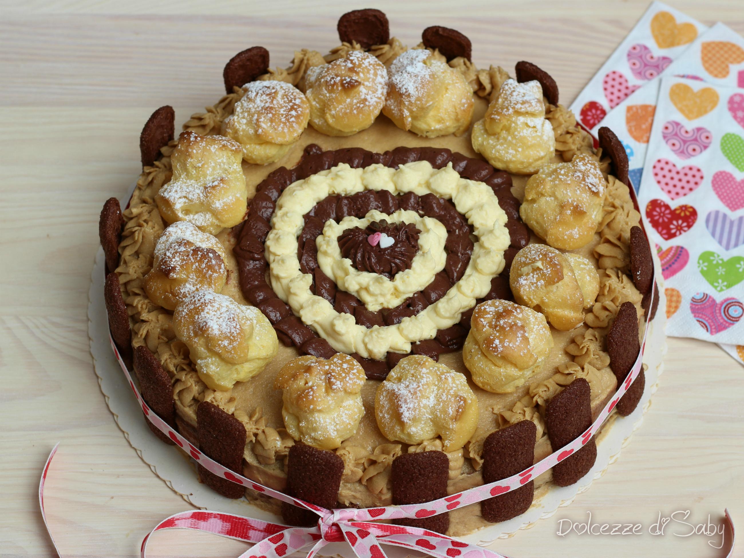 Torta caramello e cioccolato