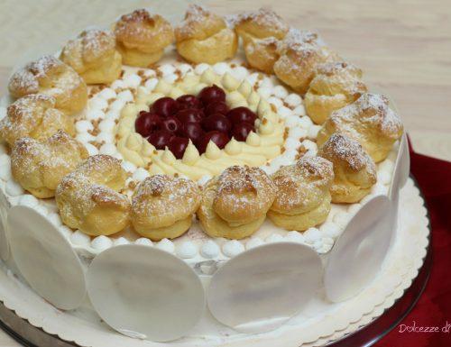 Torta ciliegie e panna