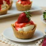 Mini cheesecake alle fragole (senza cottura)