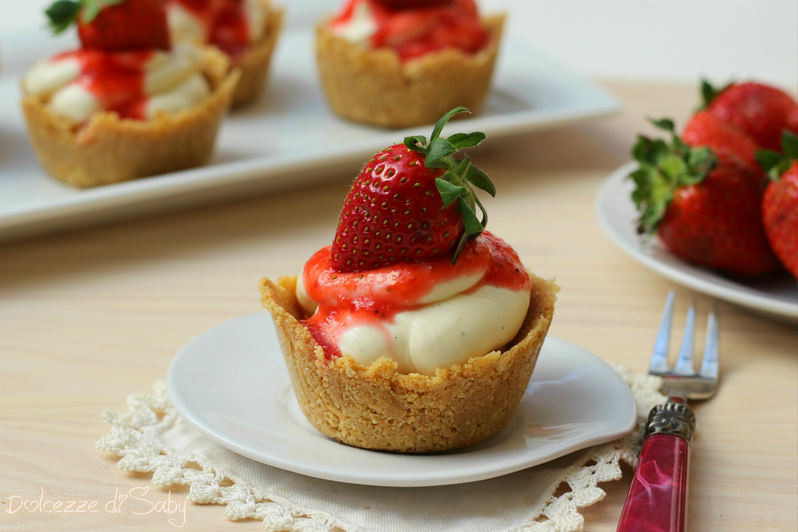mini cheesecake alle fragole