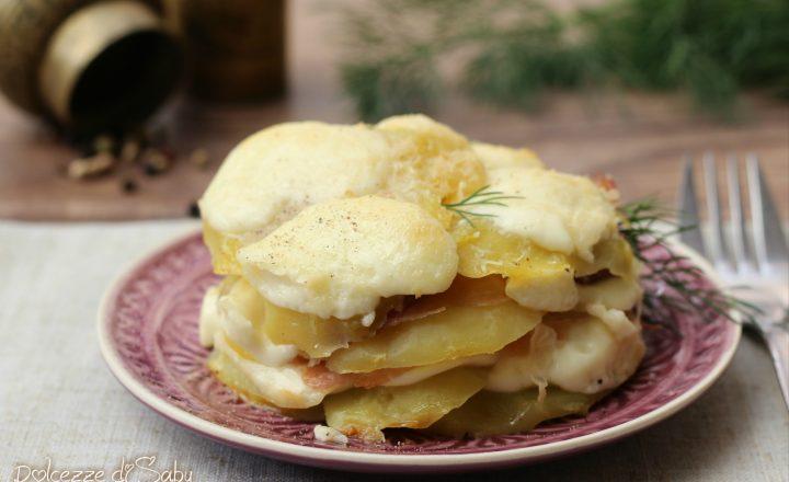 Tortino di patate, crudo e scamorza