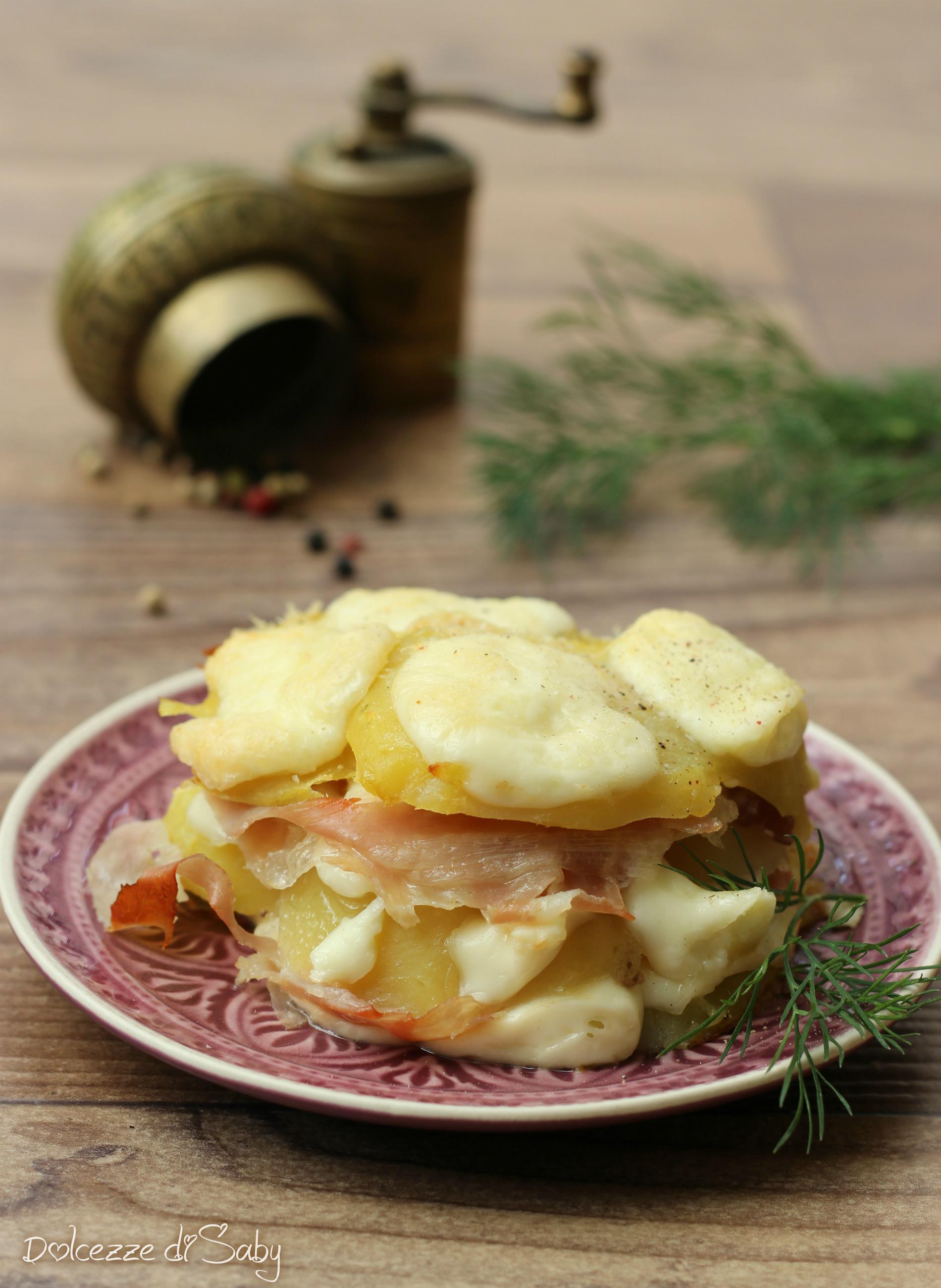 tortino di patate crudo e scamorza