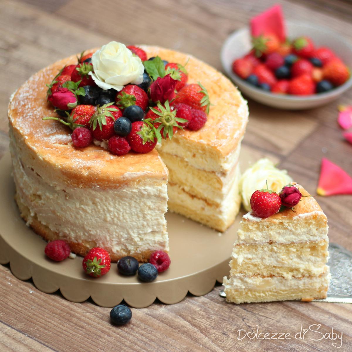 naked cake ai frutti di bosco | gratinando e pasticciando