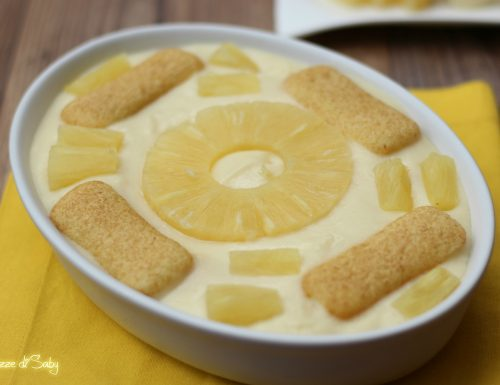 Crema della nonna con ananas e pavesini