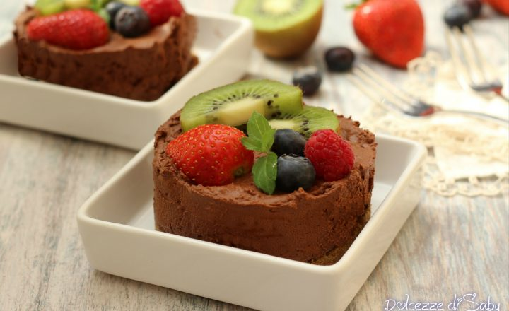 Tortine con mousse al cioccolato