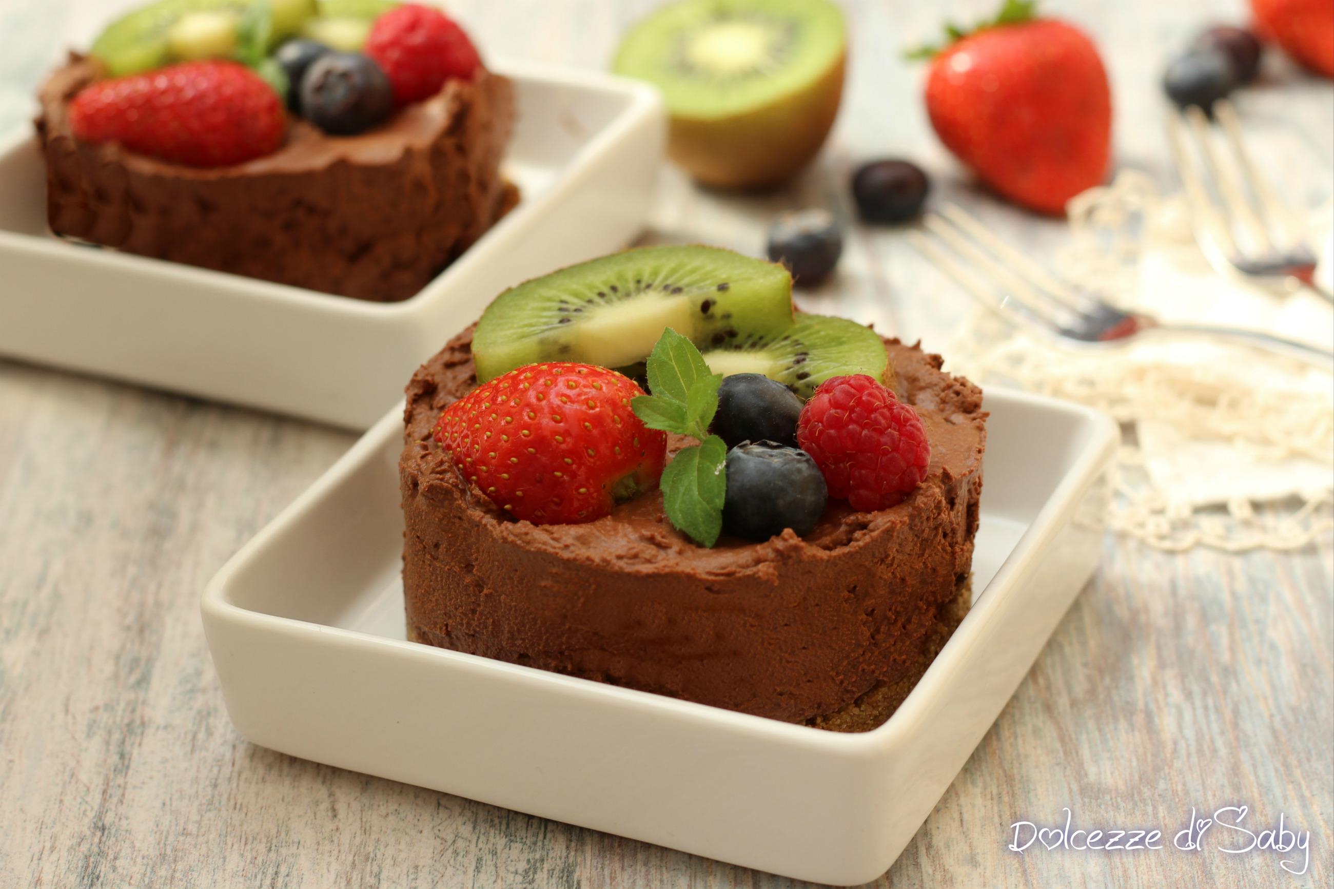 tortine mousse al cioccolato