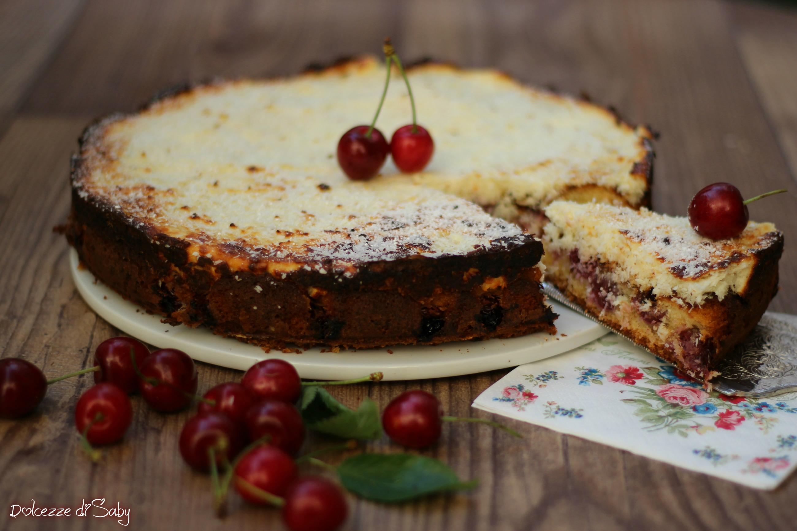 torta morbida ciliegie
