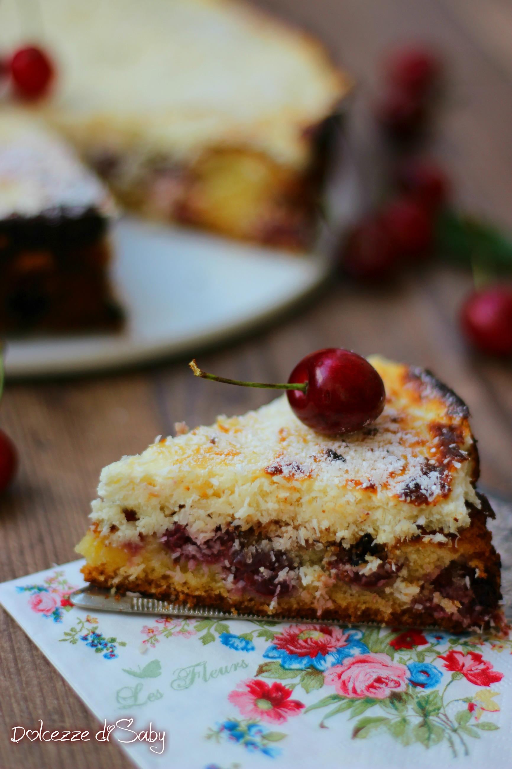 torta morbia ciliegie e cocco