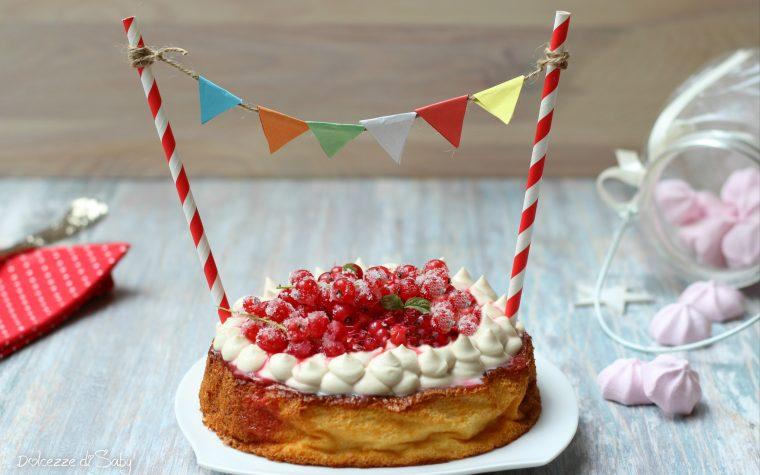 Cheesecake soufflé con ribes