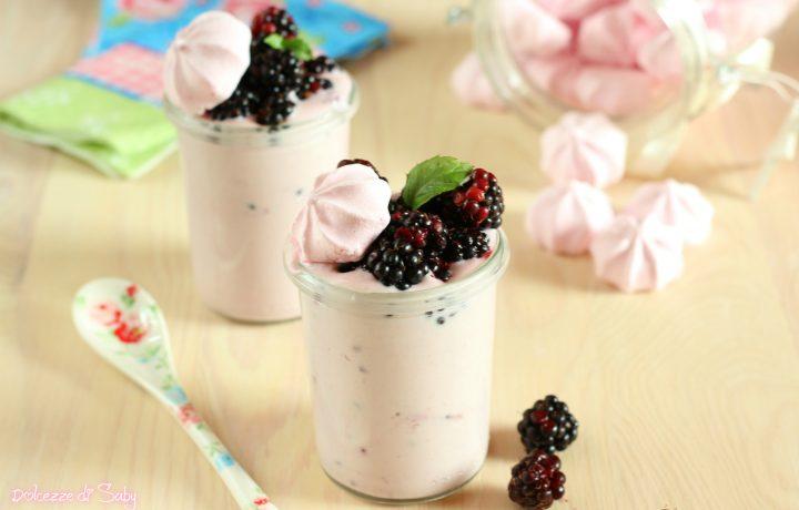 Crema meringa e more ( idea dessert o per farcire)