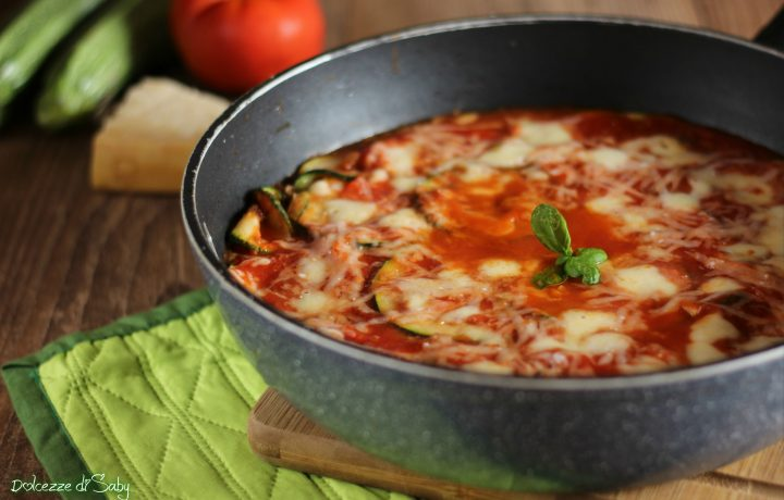 Parmigiana di zucchine cotta in padella