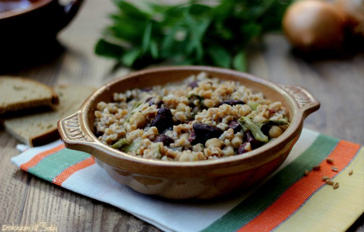 Zuppa di farro, fagioli e bietole (ricetta veloce)
