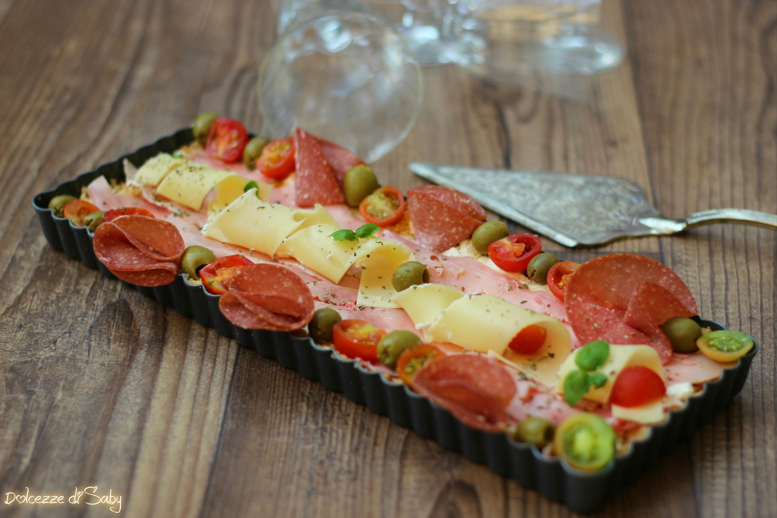 crostata salata di salumi