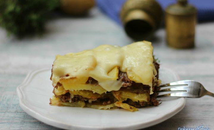 Sformato di carne e patate filante