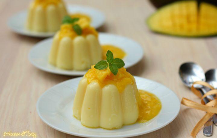 Budino al mango con purea di frutta