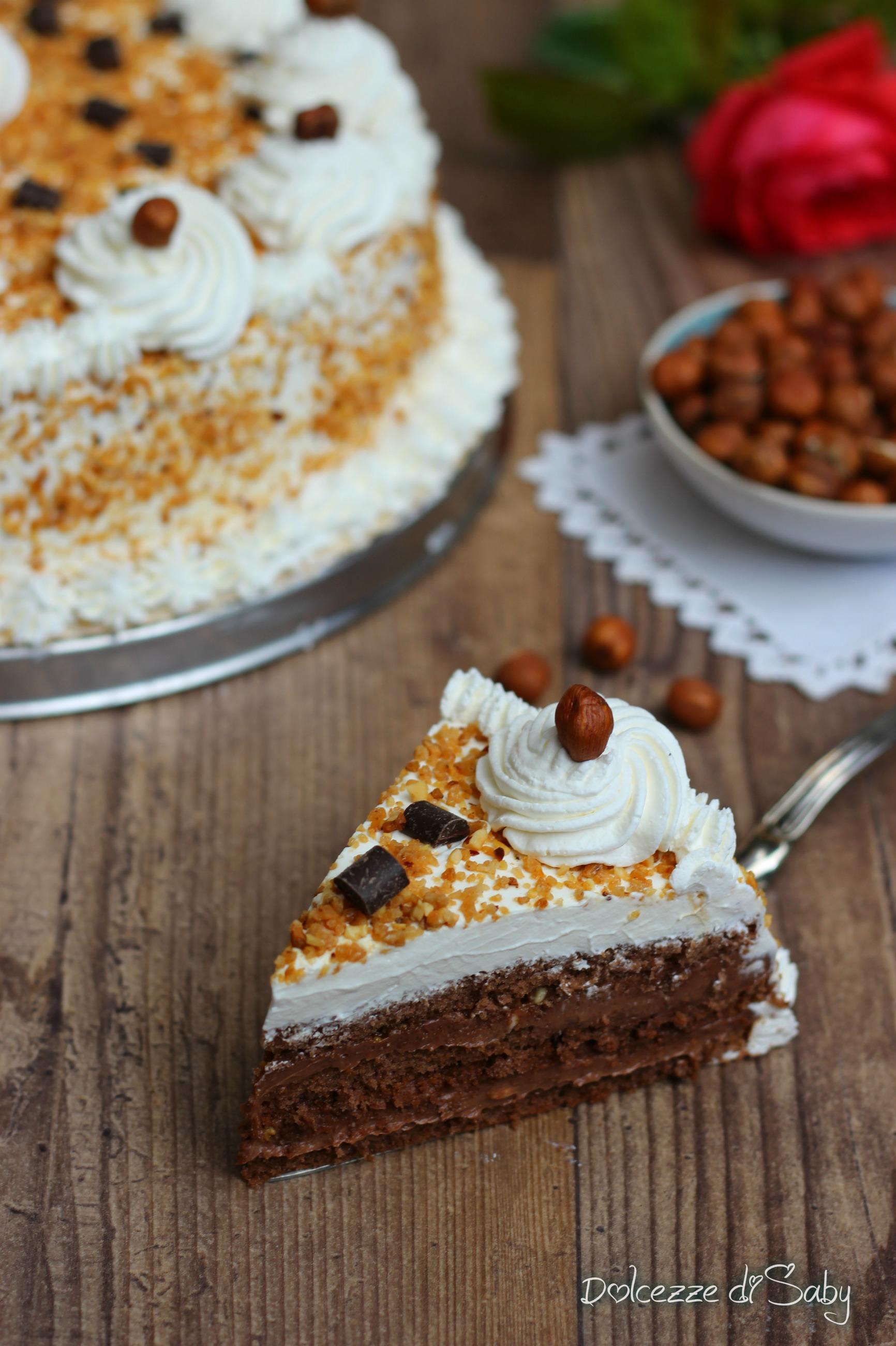 torta nocciola e cioccolato