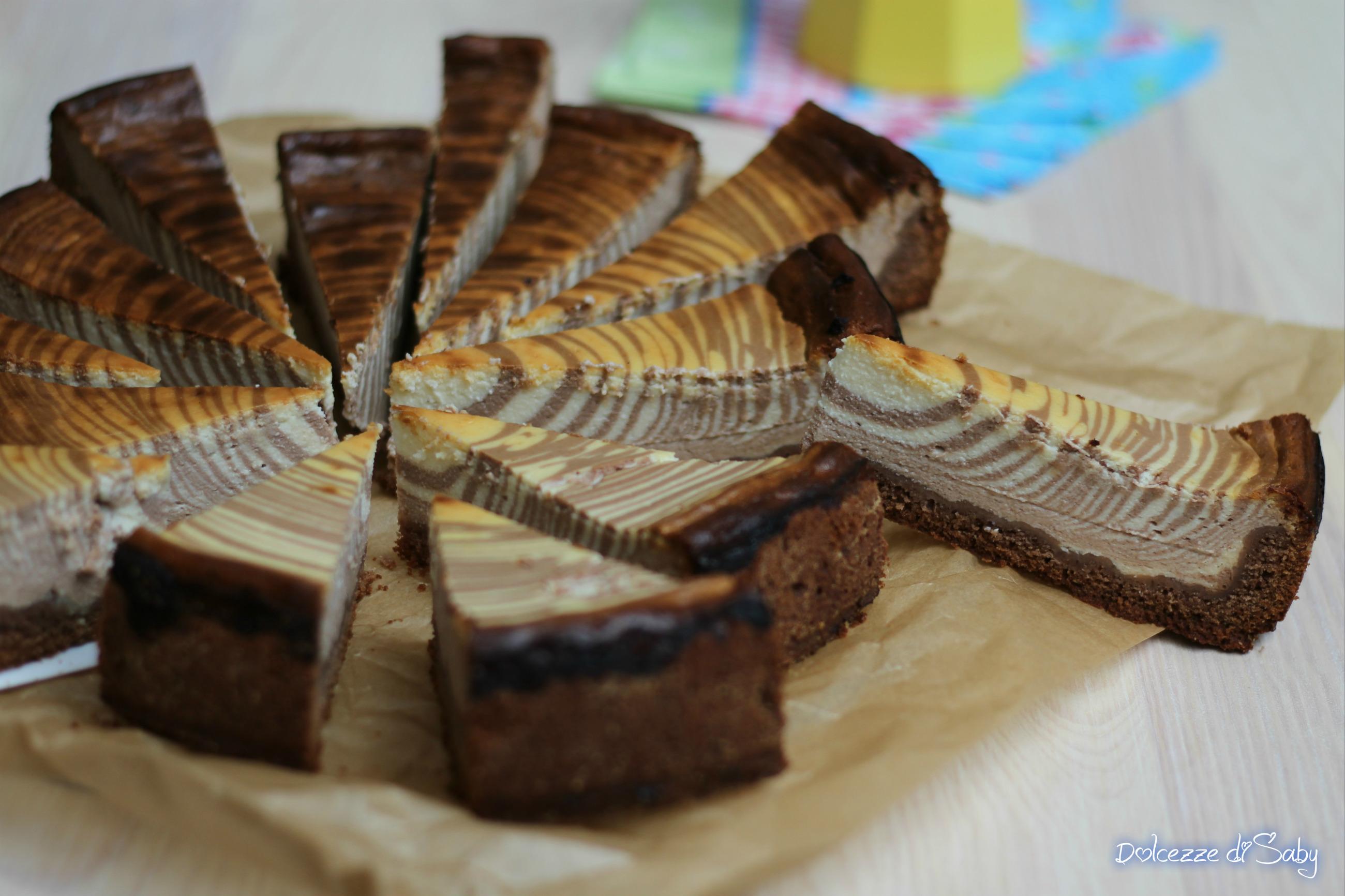 Cheesecake zebrata (Käsekuchen bigusto ricetta tedesca)