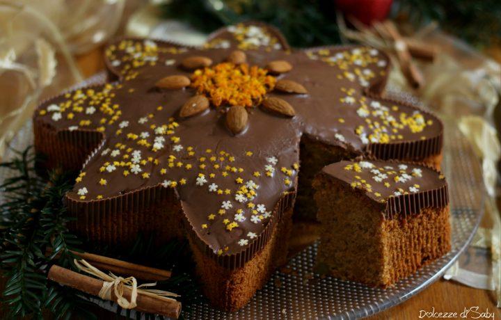 Torta stella di natale speziata al cioccolato