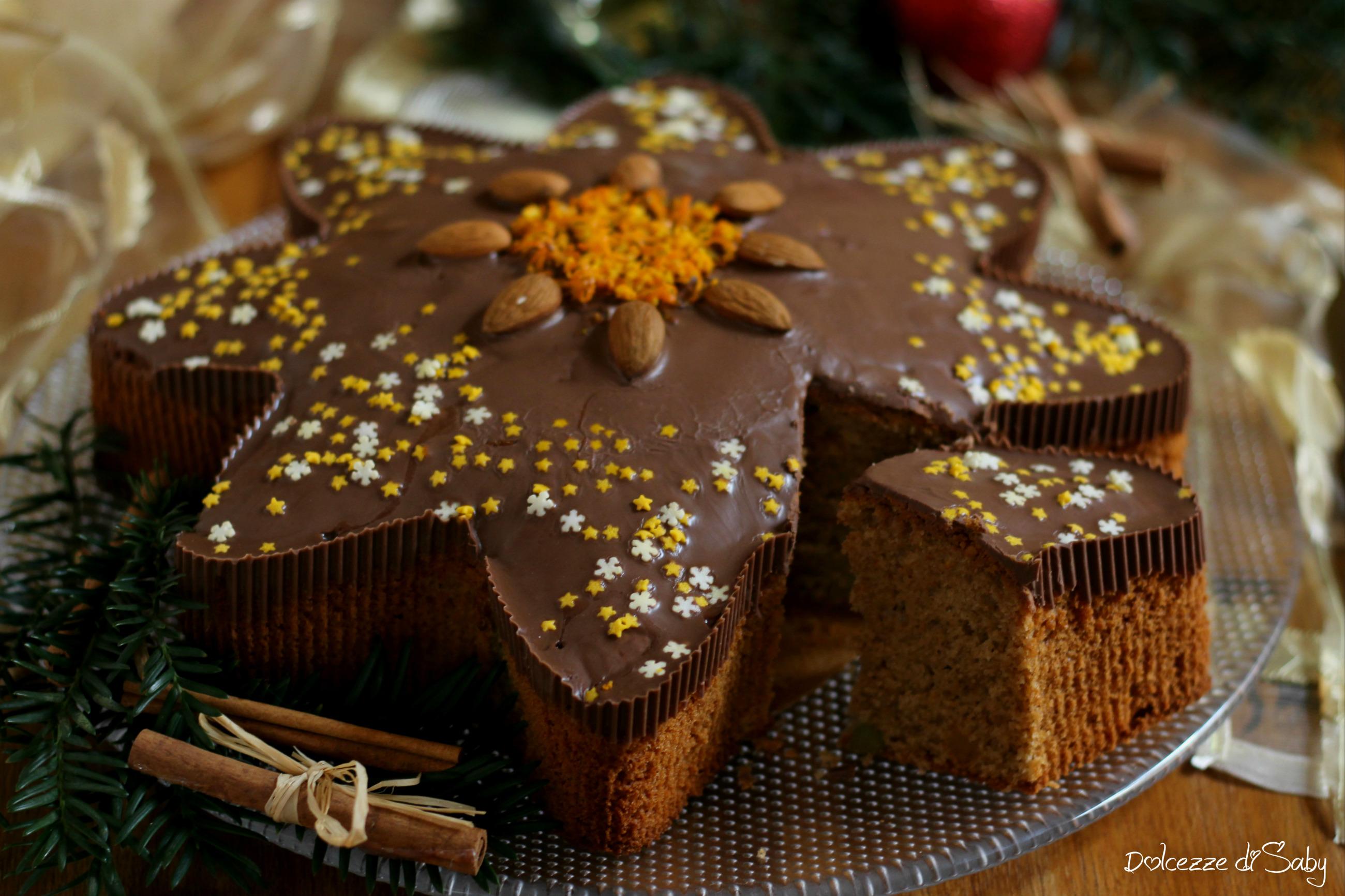 Ricetta Stella Di Natale.Torta Stella Di Natale Speziata Al Cioccolato Morbida