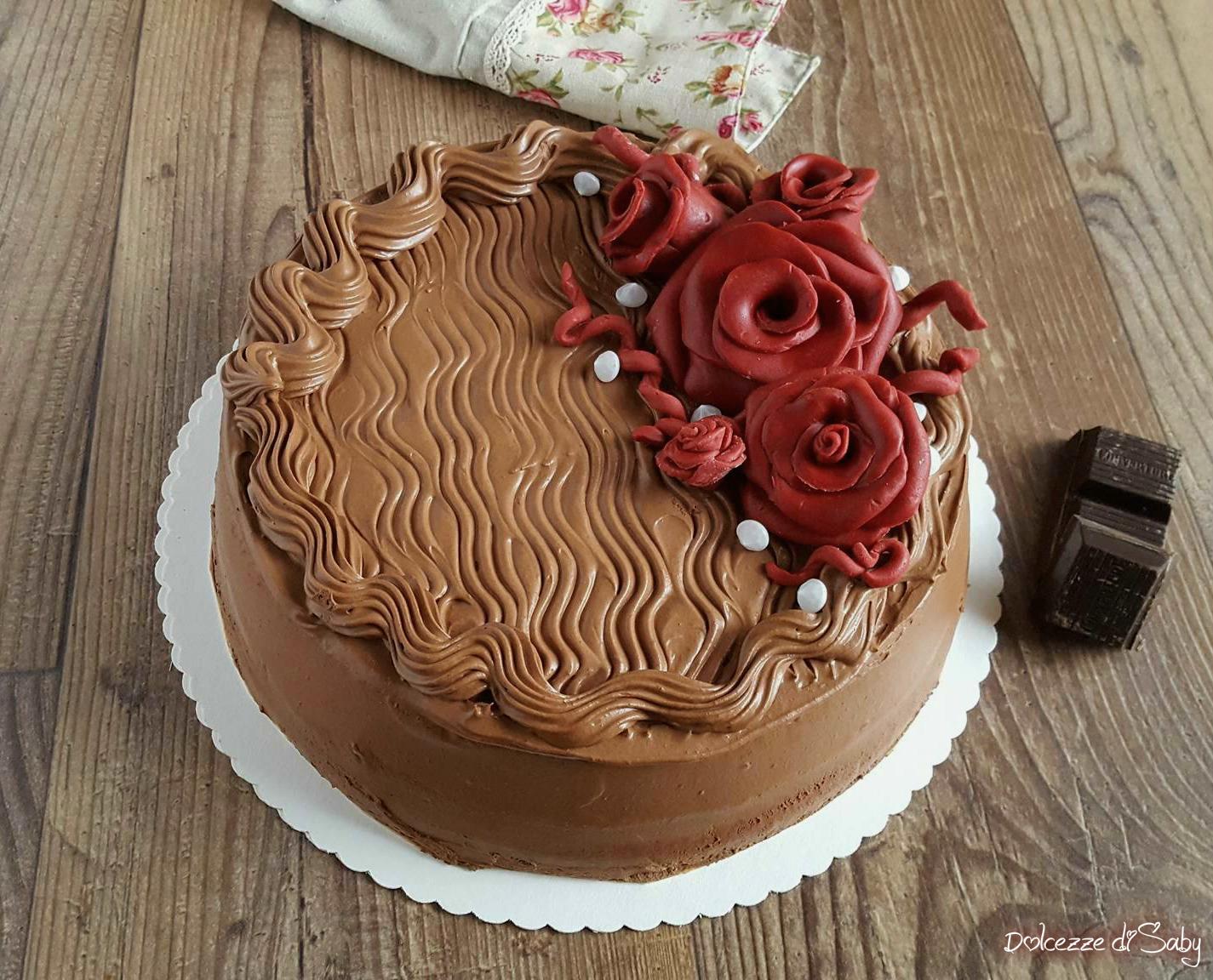 torta al cioccolato con crema rocher