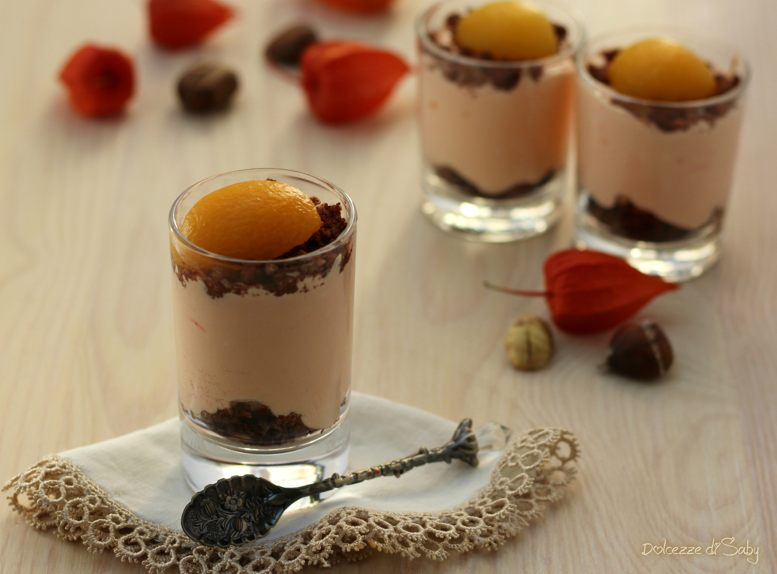 Mousse di Castagne con Crumble al Cacao