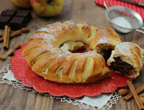 Panbrioche con mele e cioccolato