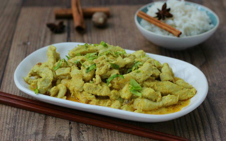 Pollo al curry con riso basmati (versione leggera)