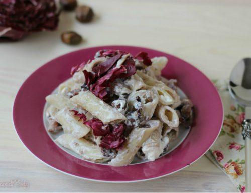 Pasta castagne e radicchio