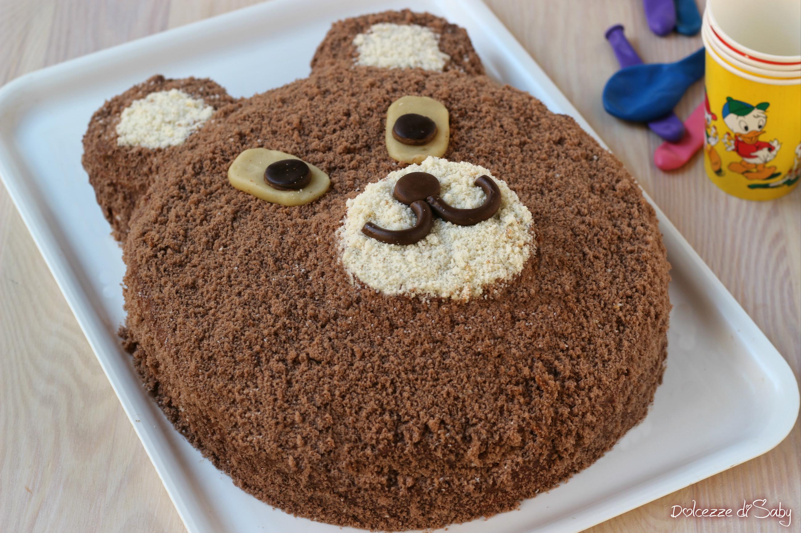 Torta orsetto per compleanni semplicissima e veloce e for Affittare una cabina grande orso