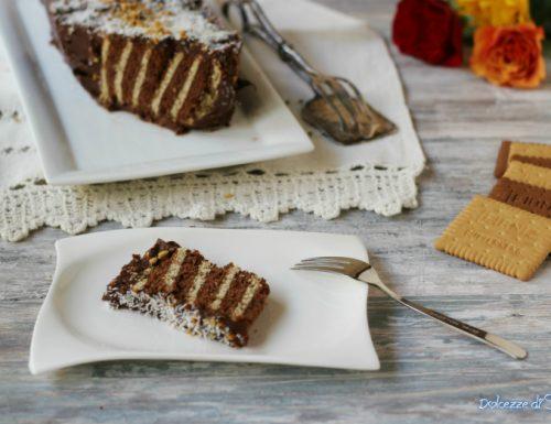 Mattonella al cioccolato zebrata