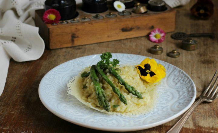 Risotto agli asparagi (ricetta con e senza bimby o mcp)