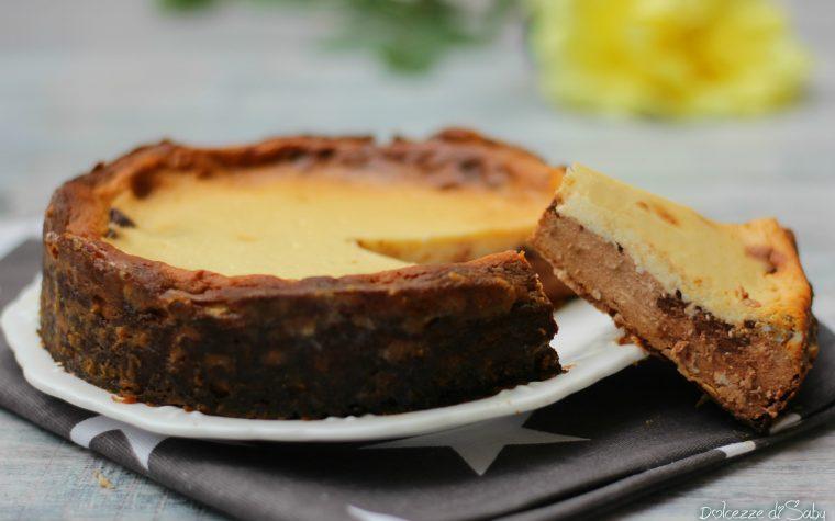 Cheesecake bigusto vaniglia e cioccolato senza base