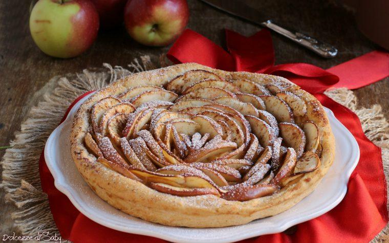 Tarté di mele con crema alla cannella