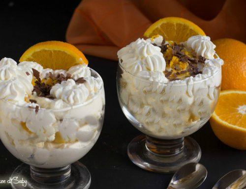 Coppa bigné arancia e cioccolato