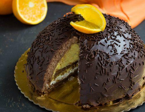 Zuccotto cioccolato e arancia